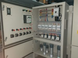 Inside Power Factor Control Panel