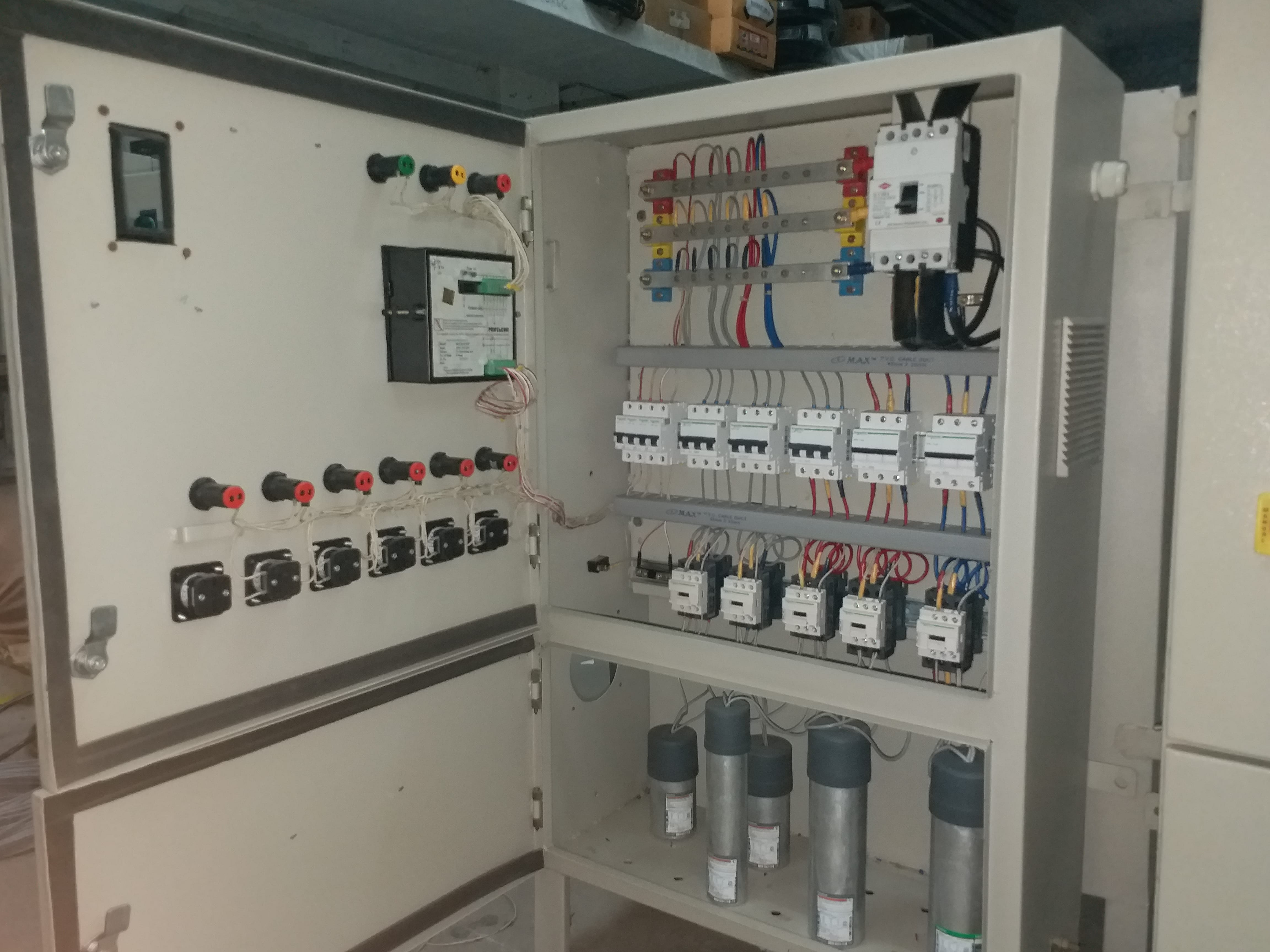 Inside Power Factor Control Panel