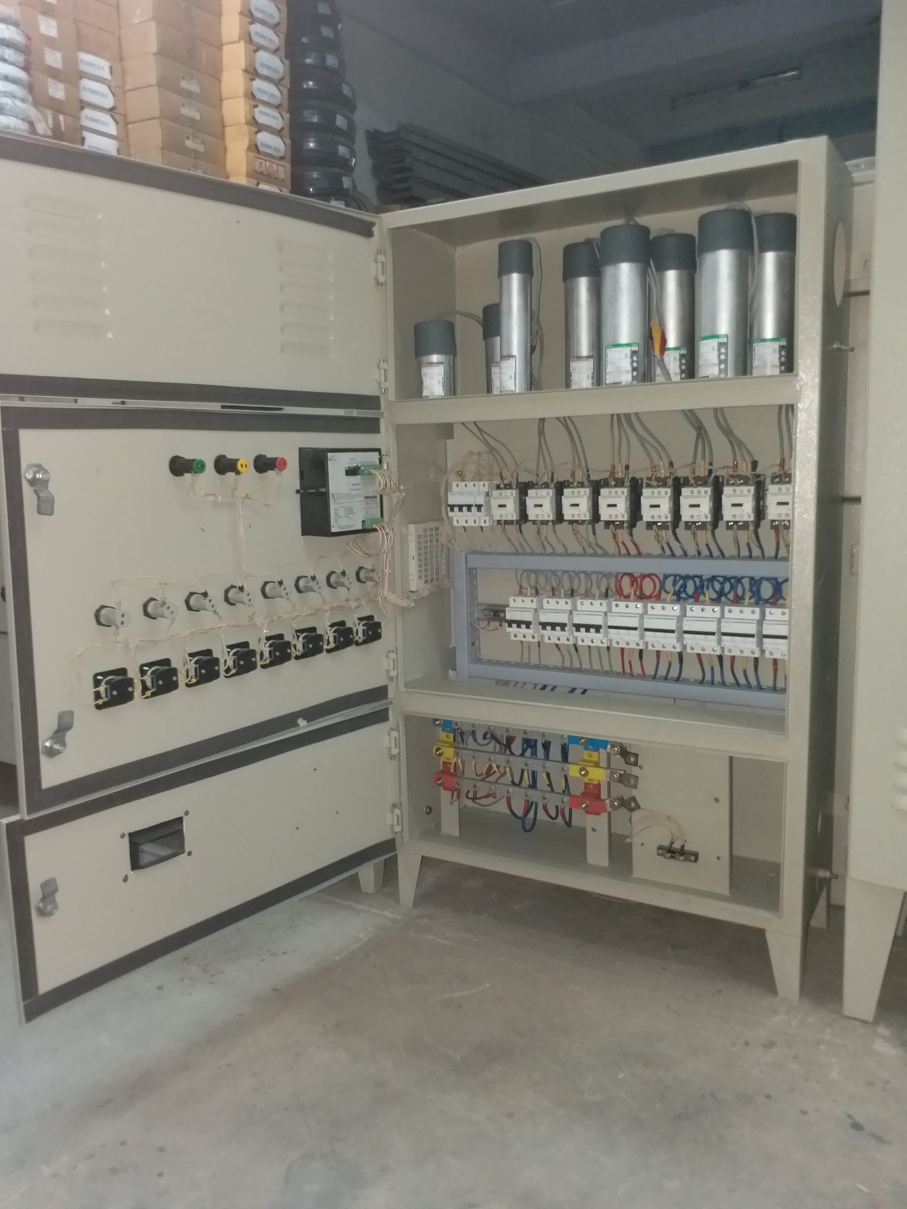 Inside Power Factor Panel